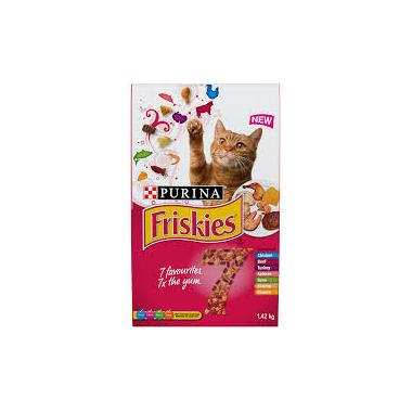 Friskies - 7 Dry Cat Chick Beef Turky Salm Tuna Shrmp Cheese