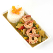 Green Curry Shrimp With Pineapple