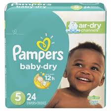 Pampers Diapers - Baby Dry Jumbo Size 5