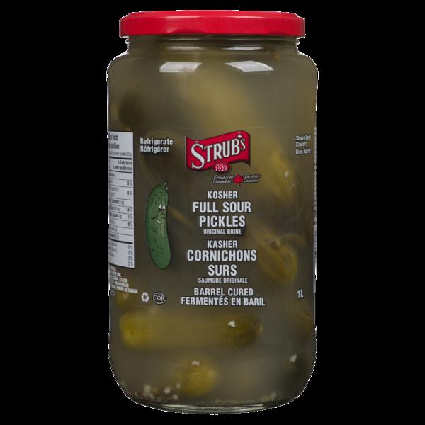 Strubs Kosher Full Sour Dill Pickles - Original