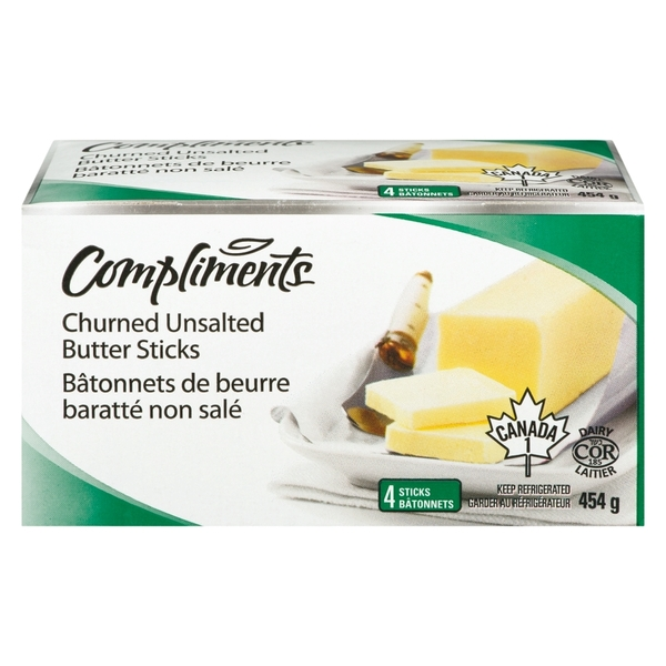 Compliments - Unsalted Butter Sticks