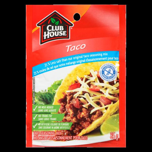 Club House - Taco Seas Mix 25% Less Salt Gluten Free
