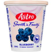Astro Smooth 'n Fruity Stirred Yogurt Blueberry