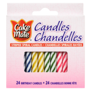 Cake Mate - Striped Spiral Candles