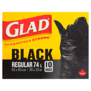 Glad Easy Tie Garbage Bags Black