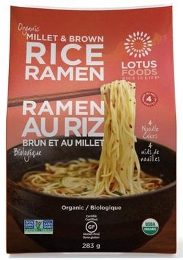 Lotus Foods - Rice Ramen - Millet & Brown - 4 Noodle Cakes