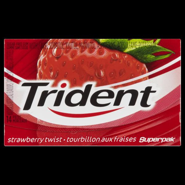 Trident - Superpak Strawberry Stick Gum