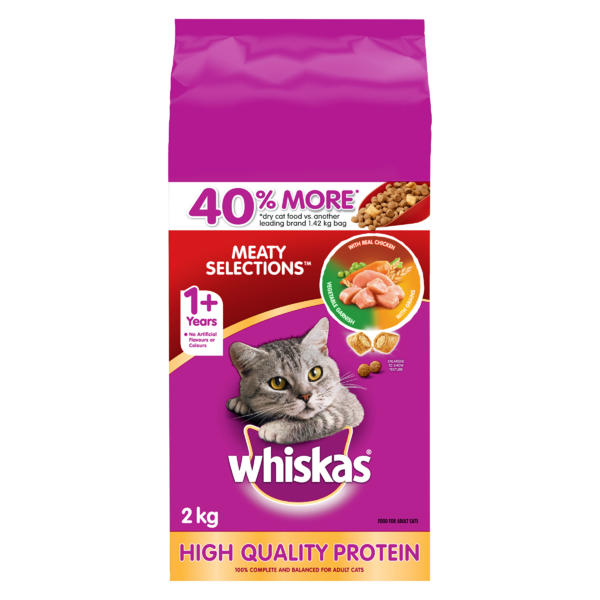 Whiskas Dry - Meaty Selection