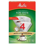 Melitta - Super Premium - Pure White - Coffee Filters - No 4
