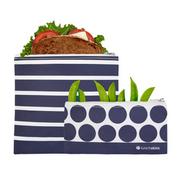 Lunchskins - Reusable Bag Set - Striped Zipper