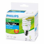Philips EnergySaver Twisters 60W Daylight