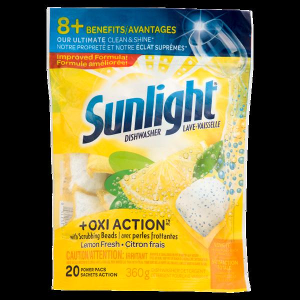 Sunlight Auto Dish - Lemon Fresh Power Paks