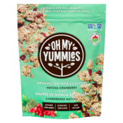 Oh My Yummies - Organic Quinoa Clusters - Matcha Cranberry