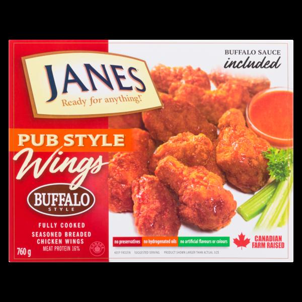 Janes Pub Style Wings Buffalo