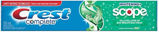 Crest -Toothpaste Complete Scope Whiten Fresh Breath