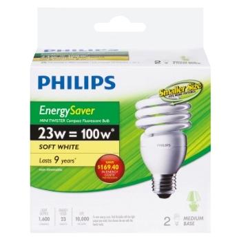 Philips - 100W CFL Mini Twist - Soft White