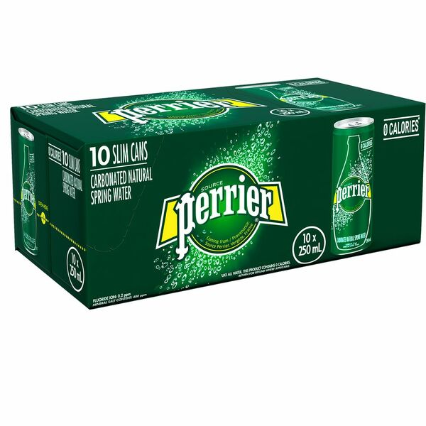 Perrier - Carbonated Natural Spring Water - 10 Pack