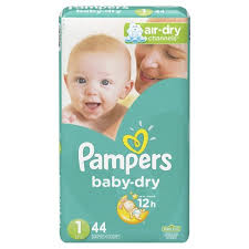 Pampers Diapers - Baby Dry Jumbo Size 1