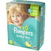 Pampers Diapers - Baby Dry Jumbo Size 6