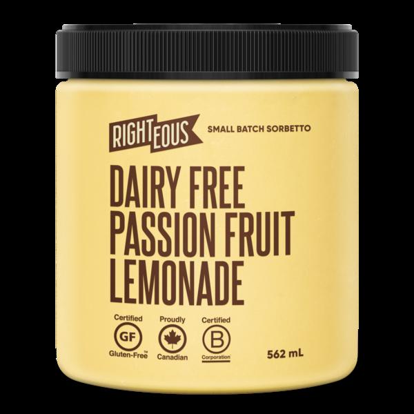 Dairy-Free Passion Fruit Lemonade Gelato