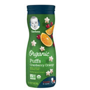 Gerber - Organic Puffs Cranberry & Orange