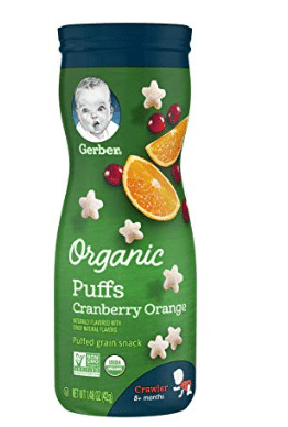 Gerber - Organic Puffs Cranberry & Orange