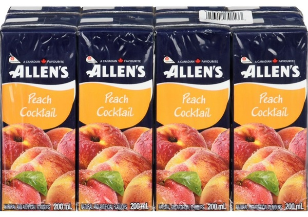 Allen's - Peach Cocktail - 8 Pack