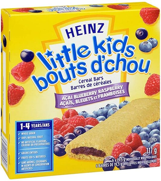 Heinz - Little Kids - Cereal Bars - 1-4 Years - 6 Pack