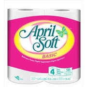 April Soft - Basic Bathroom Tissue 4Roll