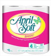 April Soft - Basic Bathroom Tissue 4Roll