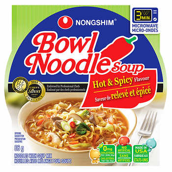 Nongshim - Hot and Spicy Noodle Soup Bowl