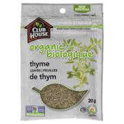 Club House - Organic Thyme Leaves Bag