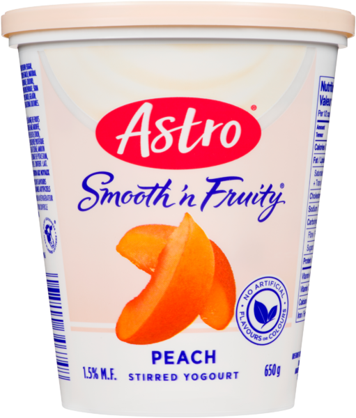 Astro Smooth 'n Fruity Stirred Yogurt Peach