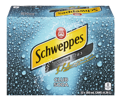 Schweppes - Club Soda - 12 Pack