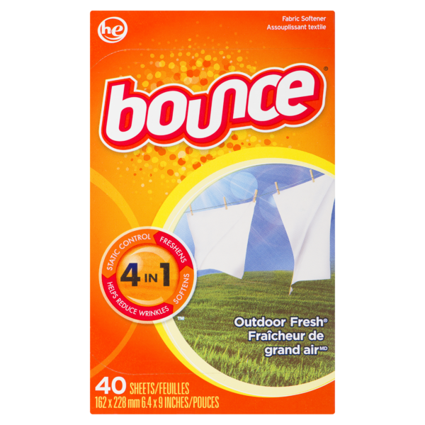 Bounce - Fabric Softener Sheets Outdoor Fresh