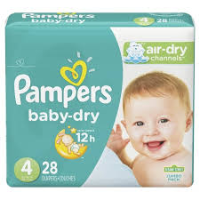 Pampers Diapers - Baby Dry Jumbo Size 4
