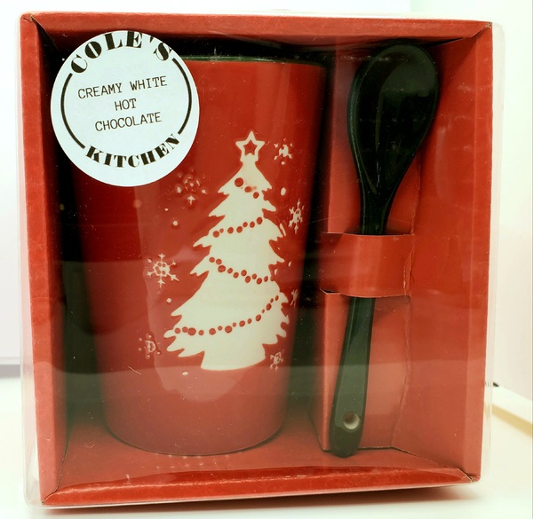 Creamy White Hot Chocolate Ceramic Mug Kit
