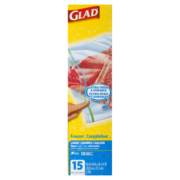 Glad - Zipper Freezer Bags - Large