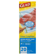Glad - Zipper Freezer Bags - Medium