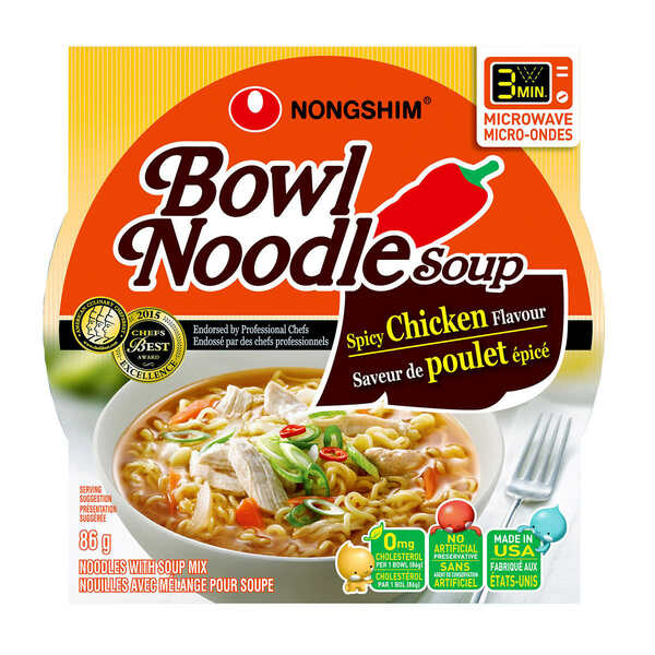 Nongshim - Spicy Chicken Noodle Soup Bowl