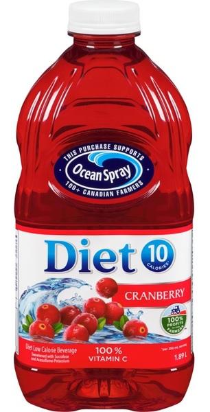 Ocean Spray - Cranberry - Diet Low Calorie Beverage