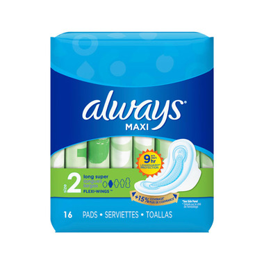 Always - Maxi Pads Super Long With Flexi Wings