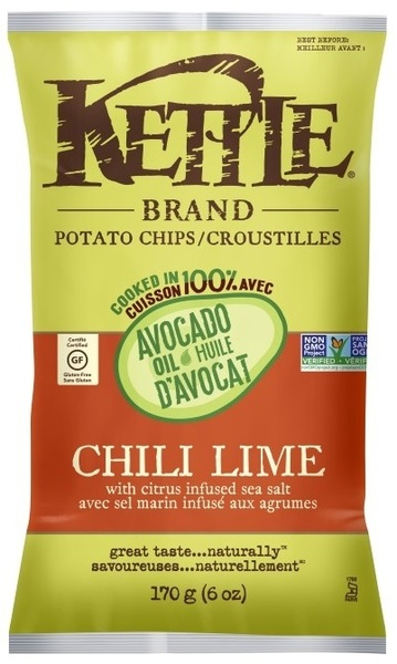 Kettle - Potato Chips - Chili Lime with Citrus Infused Sea Salt