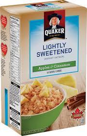 Quaker Lite Apple Cinnamon Instant Oatmeal