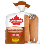 Dempster's - Hot Dog Bun - Whole Wheat