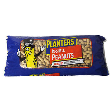 Planters In Shell Peanuts Roasted, No Salt