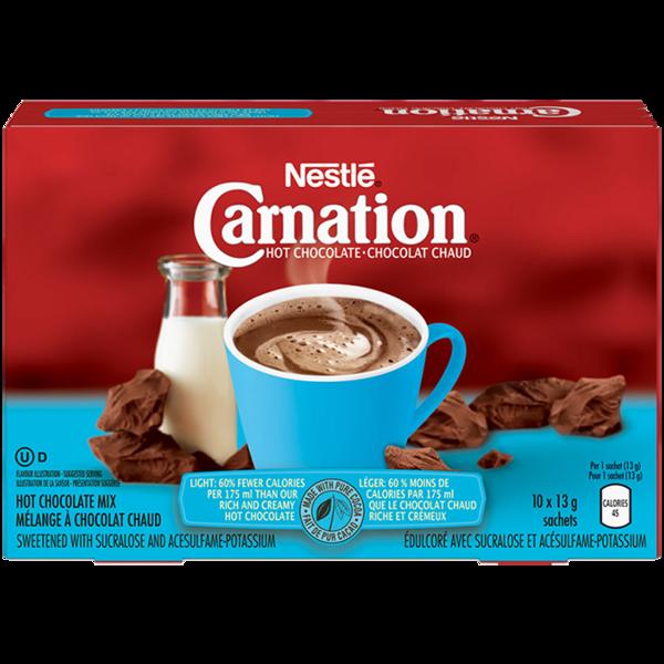 Nestle - Carnation - Hot Chocolate - Light - 10 Pack