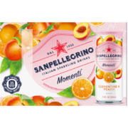 San Pellegrino - Momenti - Clementine and Peach - 6 Pack